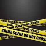 Police tape. Crime scene, do not cross tape stock illustration