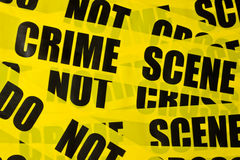 Police tape background. With crime scene text Royalty Free Stock Photography
