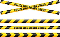 Police tape line. Illustration of police tape line Stock Images