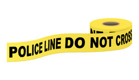Police tape with text Stock Photo
