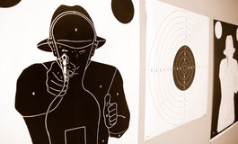Police targets. 3 different police targets - Weapon Stock Image