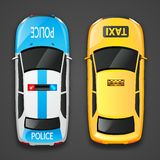 Police And Taxi Cars Stock Images