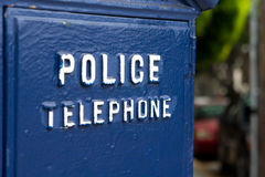 Police telephone Royalty Free Stock Image