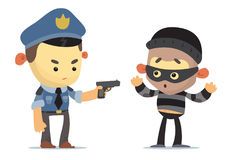 Police and Thief Stock Images