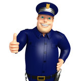 Police with Thumbs up pose. 3d rendered illustration of Police with Thumbs up pose Stock Photos
