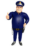 Police with Thumbs up pose Stock Images