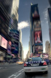 Police in Times Square. Police car in Times Square, New York stock photo