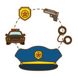 Police tools icon image design Royalty Free Stock Photo