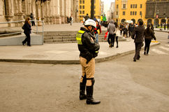 Police. Traffic police in downtown Lima Peru Royalty Free Stock Photo