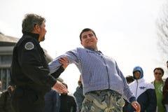 Police training civilians Royalty Free Stock Image