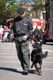 Police training exercise in Pezinok, Slovakia Royalty Free Stock Photo