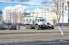Police trucks (Prisoner transport vehicles) Stock Photos