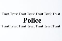 Police Trust Stock Photography