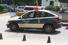 Police in the Tunisian city of Sousse Royalty Free Stock Photos