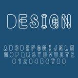 Police typographique abstraite moderne et alphabet illustration de vecteur