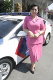 POLICE UNIFORM WIFE Royalty Free Stock Photos