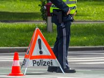 Police use. roadblock Royalty Free Stock Images