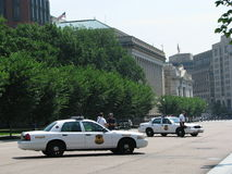 Police - USSS Cars, Washington DC Stock Photo