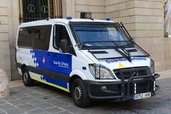 Police Van at Barcelona, Spain Royalty Free Stock Photo