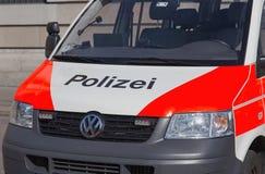 Police van close up Royalty Free Stock Photo