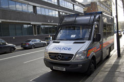 Police van in London. A police van parked in downtown London. A lot of police activities due to recent terra attack. medec Stock Photos