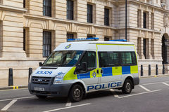 Police Van in London Royalty Free Stock Photo