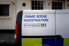 Police van sign Stock Image