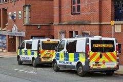 Police vans Royalty Free Stock Image