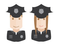 Police vector avatars set Stock Images