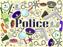 Police vector illustration Royalty Free Stock Photo