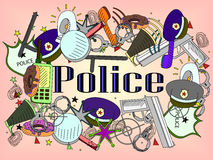 Police vector illustration Royalty Free Stock Photography