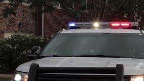 Police vehicle and flashing lights hd. Cop car and flashing lights 1080p stock video