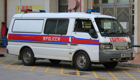 Police vehicle in Hongkong Royalty Free Stock Images