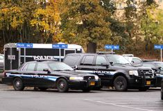Police vehicles Stock Image