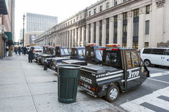 Police vehicles in Manhattan Stock Photos