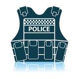 Police Vest Icon. Shadow Reflection Design. Vector Illustration stock illustration