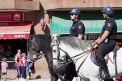 Police at the Vicente Calderon Stock Photo