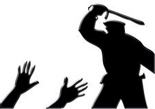 Police violence Stock Photo