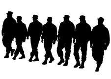 Police walk Stock Photos