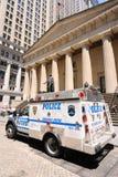 Police on Wall Street Stock Photo