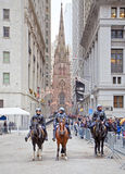 Police in Wall Street Royalty Free Stock Photography