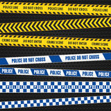 Police Warning Tapes Stock Photos