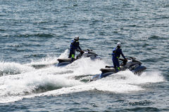 Police water motors Stock Photography