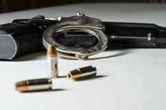 Police weapons Stock Image