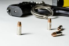 Police weapons Royalty Free Stock Photos