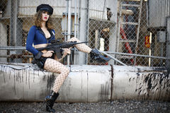Police woman Stock Photography