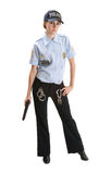 Police woman with gun Stock Photos