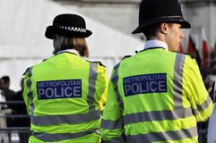 Police woman and police policeman in London Stock Image