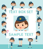 Police Woman text box Stock Photo