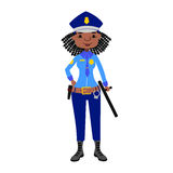 Police woman vector character. Stock Images